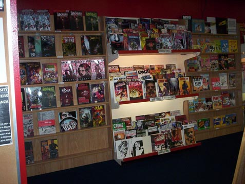 Horror, war, western and crime collections and single issues.